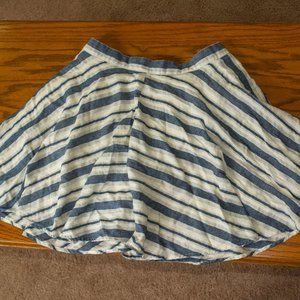 White and Blue Skirt by Forever 21